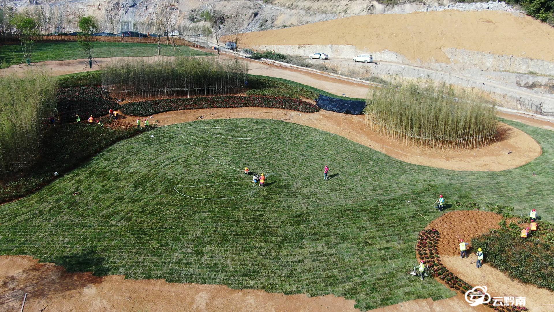 【綠博園建設進行時】綠博園景觀工程已完成85%