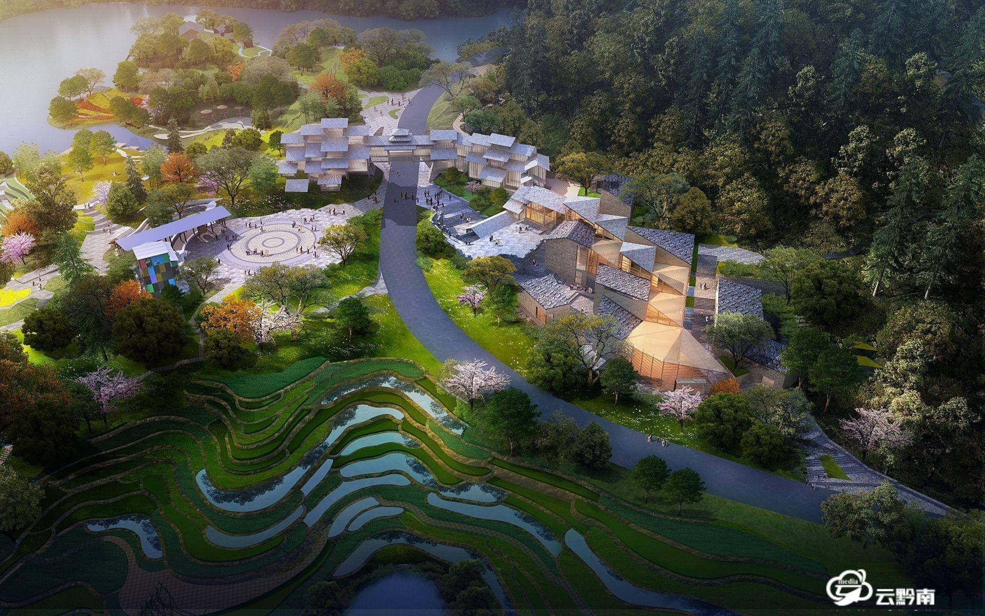 【綠博園建設進行時】貴州園主體建筑已完工植物種植凸顯鄉土情懷