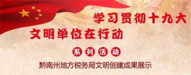 黔南州地方稅務局文明創建成果展示