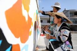 龙里平坡苗族绘画绽放民间艺术之花