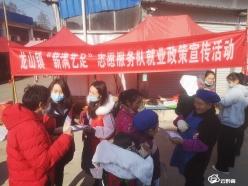 龙里龙山:志愿服务队开展就业创业政策宣传活动