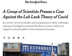 """21位西方科学家联名反驳新冠病毒""""实验室泄漏论"""""""